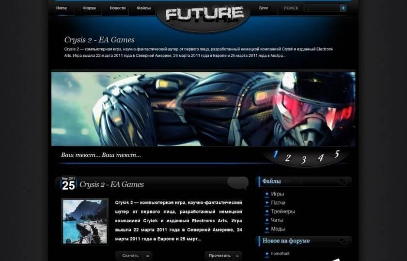 Оригинальный Шаблон на тему Crysis 2 для uCoz - Future