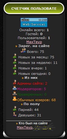 Скрипт статистика для uCoz