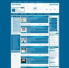 Оригинальный шаблон Info-uCoz с рабочим конструктом + PSD макет