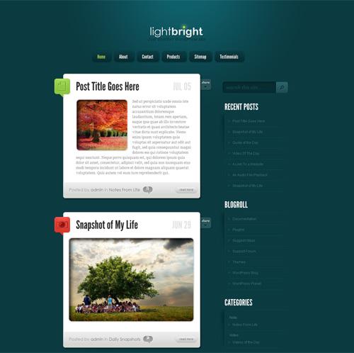 Отличный шаблон для блога или небольшого сайта